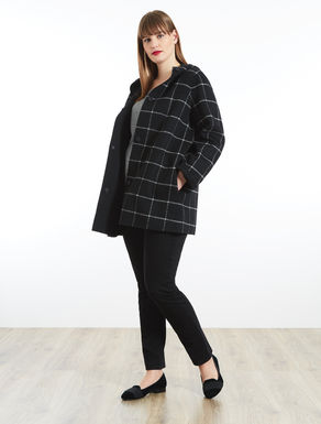 Reversible coat in double-faced wool