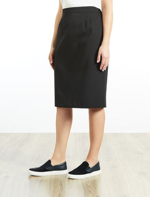 Structured stretch fabric tube skirt