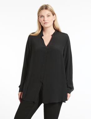 Camicia in crespo di misto seta