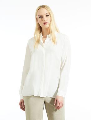 Crepe silk blend shirt