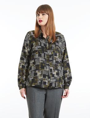 Camicia in raso opaco stampato