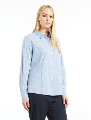Striped cotton and nylon shirt