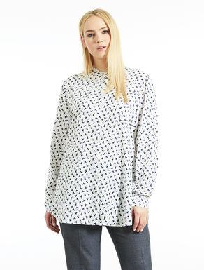 Camicia lunga in viscosa stampata