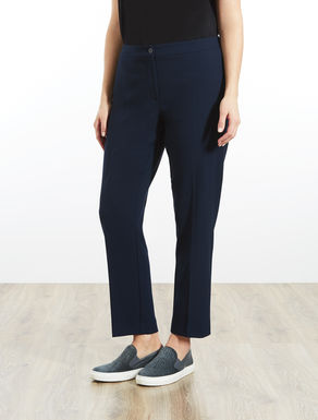 Structured stretch slim-fit trousers