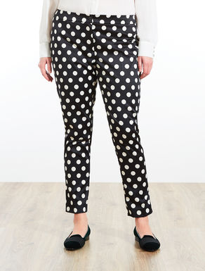 Printed stretch satin trousers