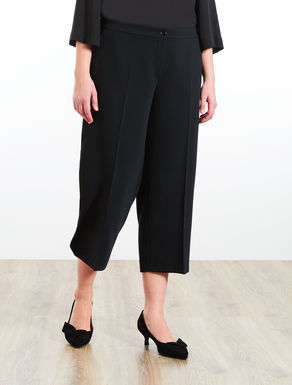 Cropped floaty trousers