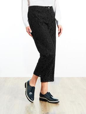 Pantalone cropped in pizzo rebrodè