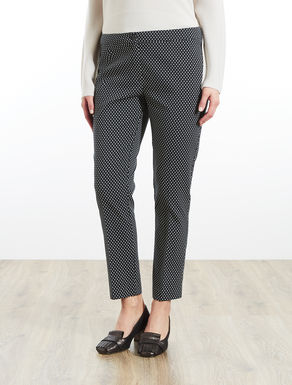 Two-tone patterned trousers