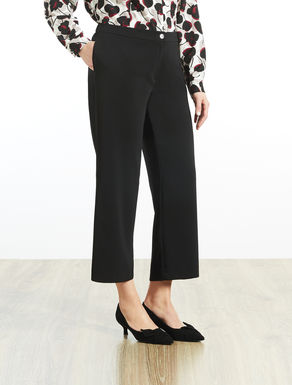 Fluid stretchy cropped trousers