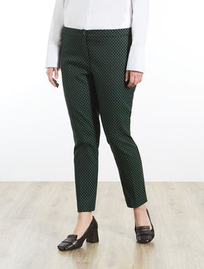 Cigarette trousers in jacquard