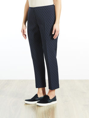 Slim-fit trousers in Lurex jacquard