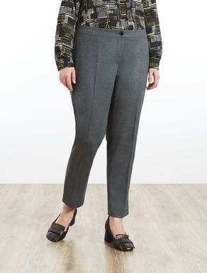 Slim-fit trousers in flannel