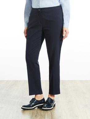 Pantalone slim fit a fantasia