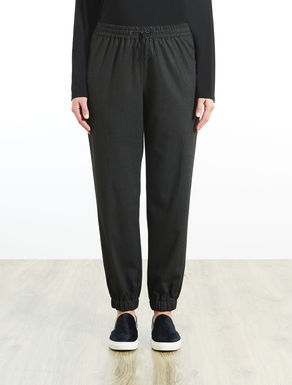 Pinstripe flannel jogging pants