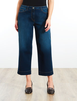 Jeans cropped in denim stretch