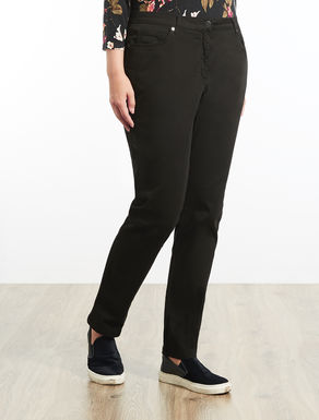 Stretch satin Shaping-fit trousers