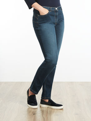 Shaping-fit stretch denim trousers