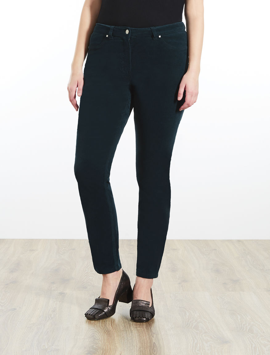Velvet Jegging-fit trousers