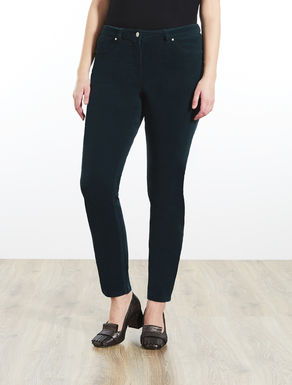 Pantalon jegging en velours