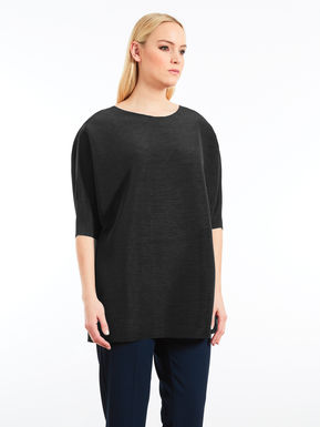 Oversize pleated tunic