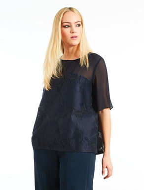 Patterned fil coupé tunic