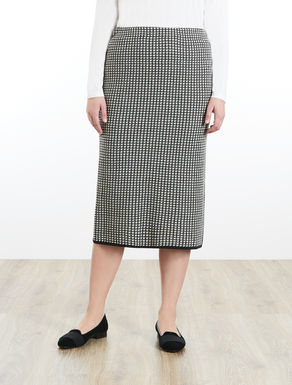 Midi skirt in jacquard knit