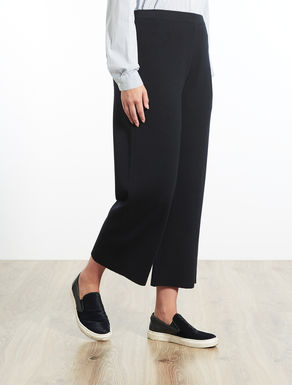 Cropped trousers in wool blend