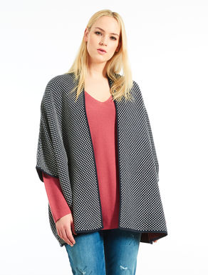 Wool and viscose jacquard cardigan