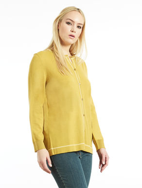 Wool blend cardigan with Lurex