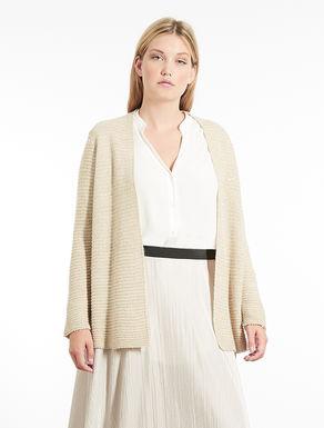 Cardigan in misto lana con paillettes