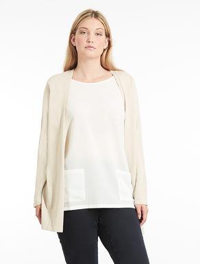 Wool and sablé blend cardigan