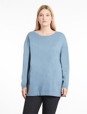 Silk and cotton blend sweater