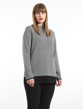 Wool blend patterned sweater