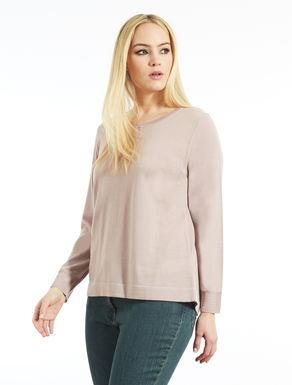 Wool blend sweater with Lurex