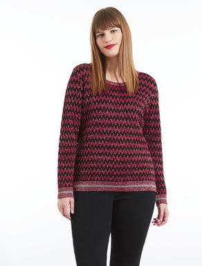 Patterned viscose and Lurex sweater
