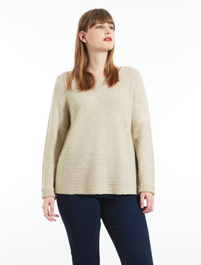 Wool blend sequinned sweater