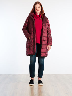 Long nylon down jacket