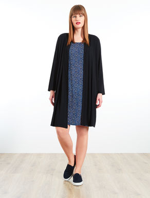 Cardigan-effect jersey dress