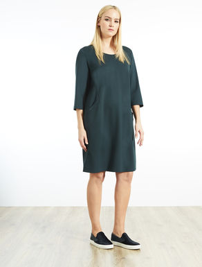 Milano stitch jersey dress