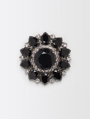 Maxi brooch with collets