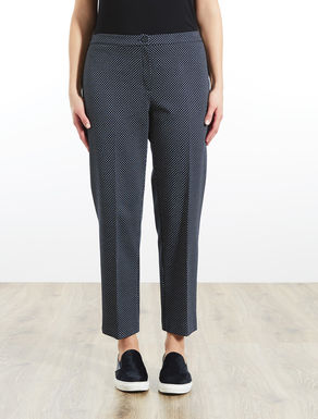 Jersey cigarette trousers