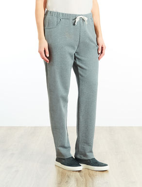 Jogging pants in sweatshirt fabric