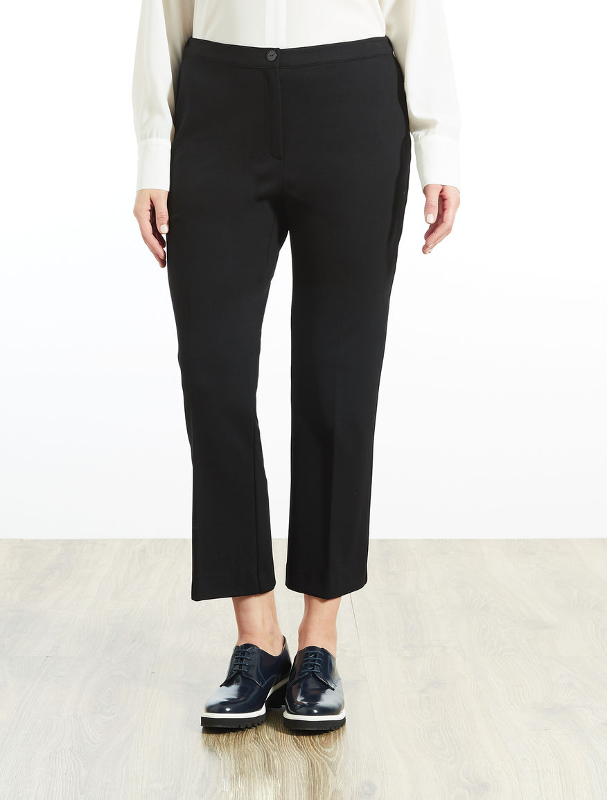 Flared trousers in jersey