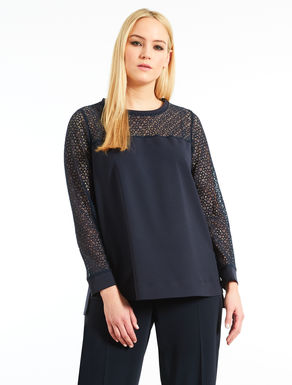 Stretch scuba tunic with lace