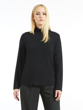 Jersey turtle-neck sweater