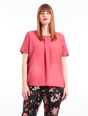 Blusa de crepé de China y jersey