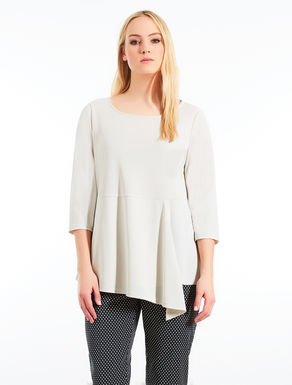 Jersey tunic with draping
