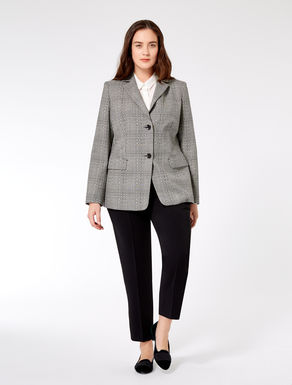 Pure jacquard wool blazer jacket