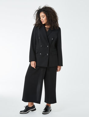 Double wool crêpe jacket