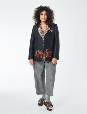 Floral design jacquard jacket